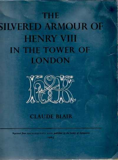 >THE SILVERED ARMOUR OF HENRY VIII IN TOWER OF LONDON<