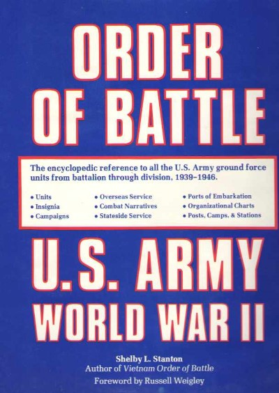 >ORDER OF BATTLE U.S. ARMY WORLD WAR II<