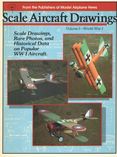 >SCALE AIRCRAFT DRAWNINGS VOLUME I-WORLD WAR 1<