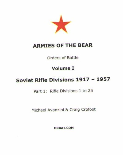 >ARMIES OF THE BEAR ORDER OF BATTLE<