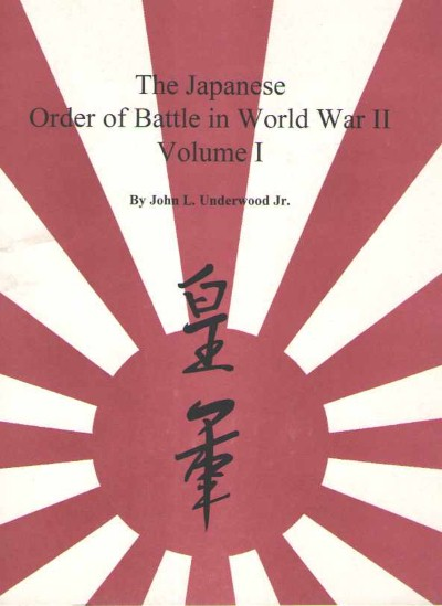>THE JAPANESE ORDER OF BATTLE IN WORLD WARII: VOLUMI I-II-III<