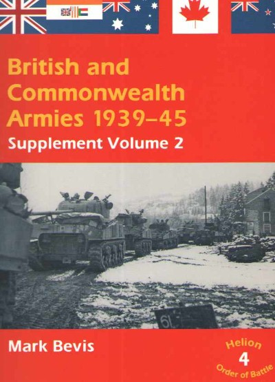 >BRITISH AND COMMONWEALTH ARMIES VOL 4<