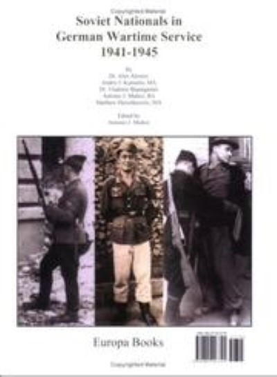 >SOVIET NATIONALS IN GERMAN WARTIME SERVICE 1941-1945<