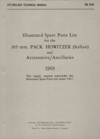 >ILLUSTRATED SPARE PARTS LIST FOR THE 105 MM. PACK HOWITZER<