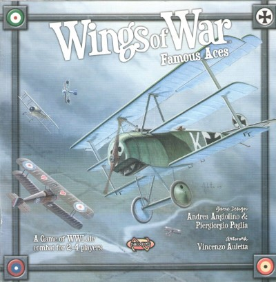 >WINGS OF WAR. FAMOUS ACES. A GAME OF WWI AIR COMBAT FOR 2-4 PLAYERS (WARGAME)<